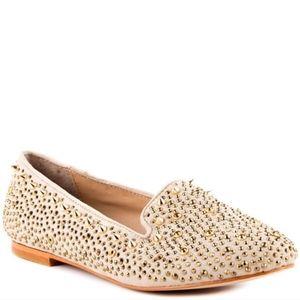Steve Madden Shoes | Steve Madden Gold Studded Spi